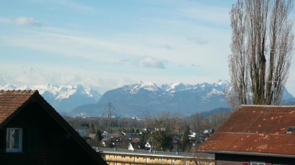 Schweizer Berge vom funkenbühel aus